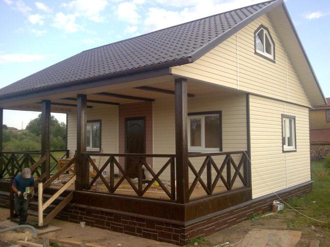 Одноэтажный дом из газобетона своими руками