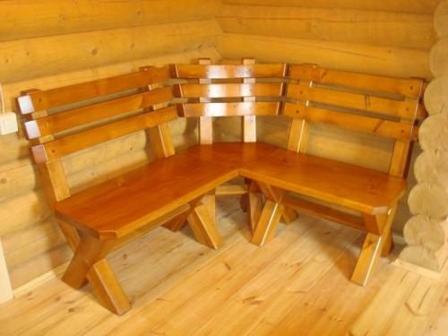 Как сделать скамейку в баню из дерева своими руками