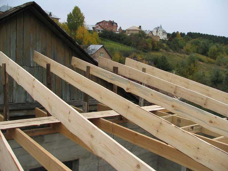 Односкатная крыша гаража 64