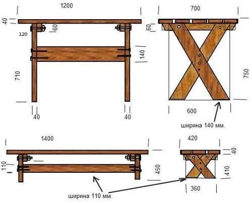 Размеры скамейки со спинкой своими руками фото 835